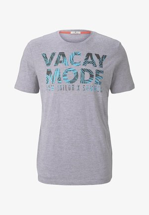 Camiseta estampada - light grey stripe