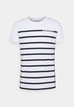 STRIPE - T-shirt imprimé - white