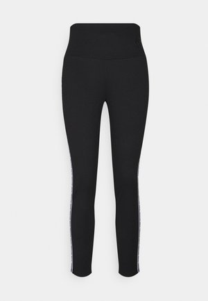 STRIPE TAPE - Leggings - Trousers - black