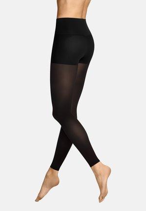 LEGGINGS SOFT TOUCH CONTROL TOP - Leggings - Stockings - black
