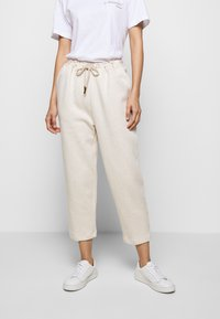 Mother of Pearl - ORGANIC PEARL CORD STOPPER - Tracksuit bottoms - oatmeal - 0