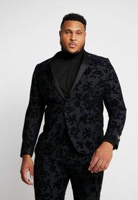 Twisted Tailor - KATRIN FLORAL FLOCK SUITPLUS - Suit - charcoal - 2