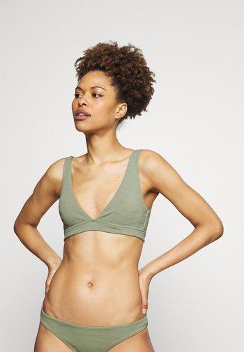 SEASIDE SOIREE V NECK CROP - Bikini top - thyme