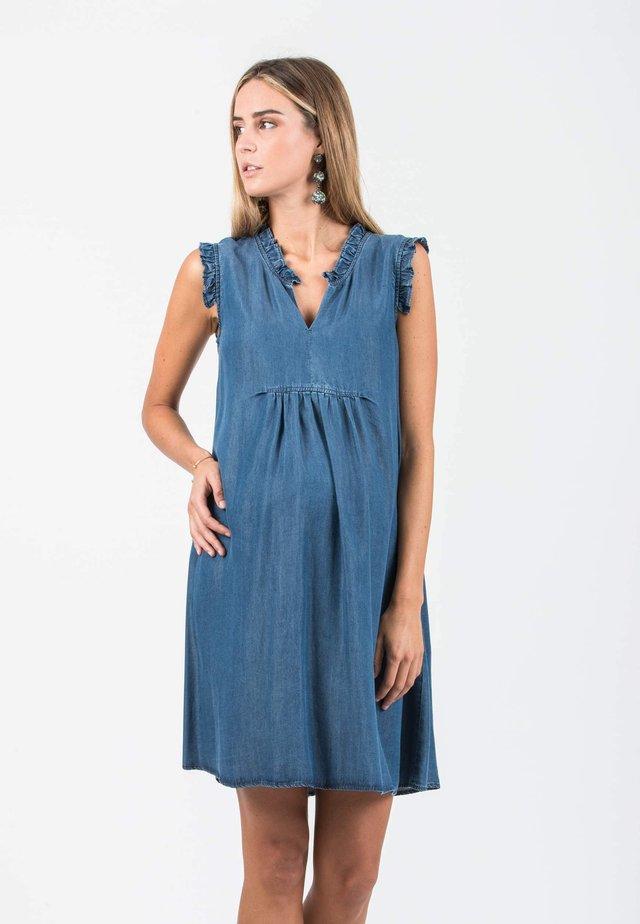 VALENTINA - Korte jurk - denim
