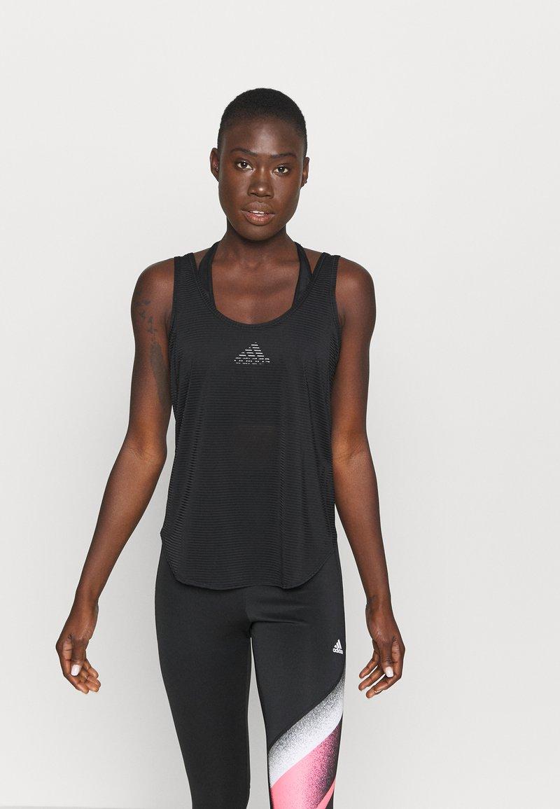 adidas Performance - COMMUTER TANK - Funktionsshirt - black/white