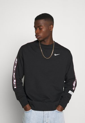REPEAT CREW  - Collegepaita - black