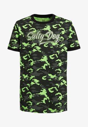 SALTY DOG - T-shirt print - green/ black