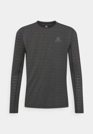 LONG SLEEVE - Sports shirt - black/heather