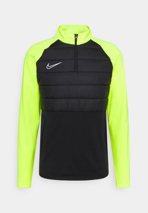 DRY PAD ACADEMY WINTERIZED - Fleece jumper - black/volt/silver