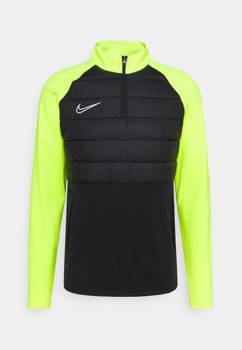 Nike Performance - DRY PAD ACADEMY WINTERIZED - Fleece jumper - black/volt/silver