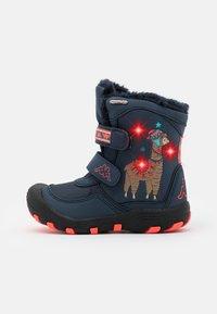 Kappa - LAMA TEX UNISEX - Winter boots - navy/coral - 0