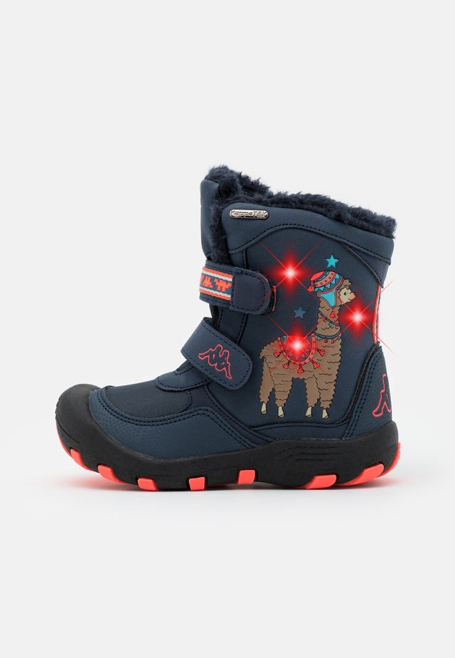 LAMA TEX UNISEX - Winter boots - navy/coral