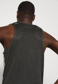 Nike Performance - RISE TANK - Sports shirt - light bone/smoke grey