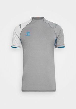 T-Shirt print - sharkskin/gray violet