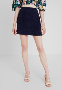 Missguided - MINI SKIRT - A-line skirt - navy - 0