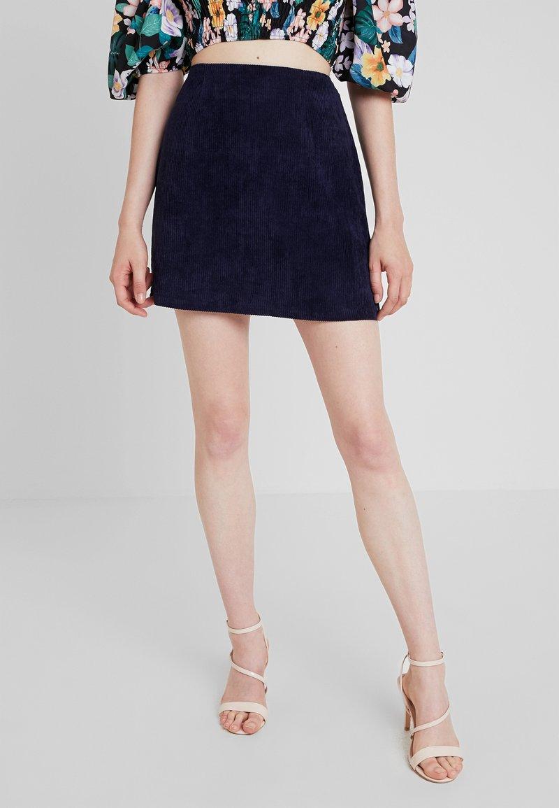 Missguided - MINI SKIRT - A-line skirt - navy