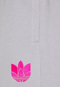 adidas Originals - Tracksuit bottoms - light grey/  pink - 2