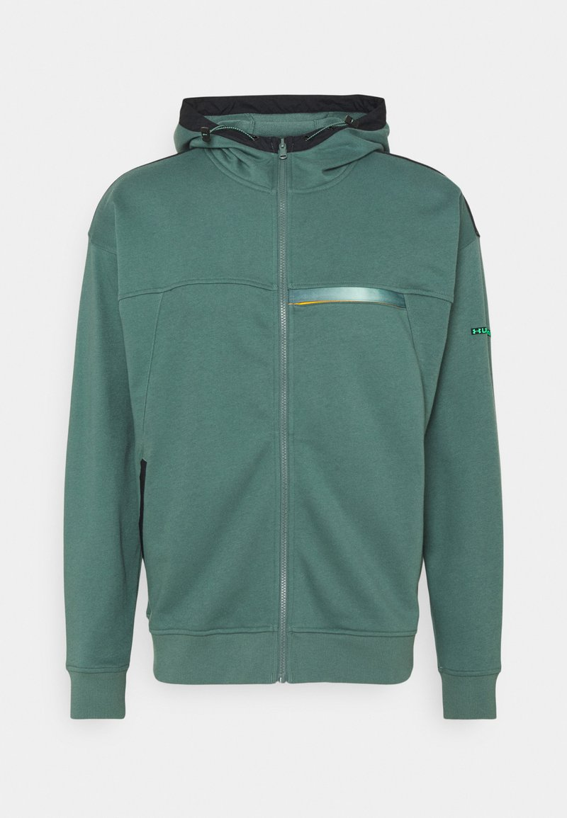 Under Armour - RIVAL TERRY - Mikina na zip - toddy green