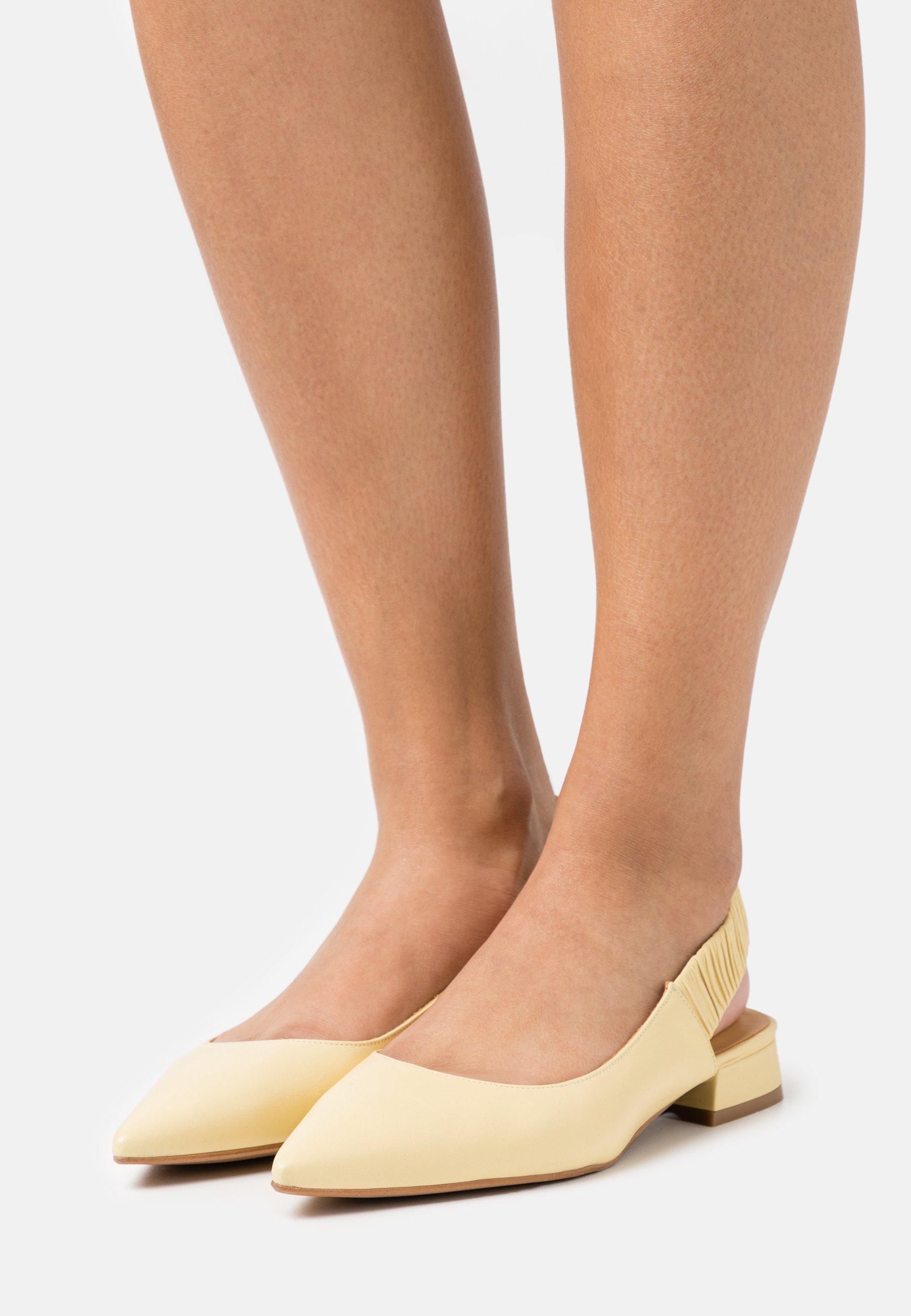 Women Slingback ballet pumps - yellow