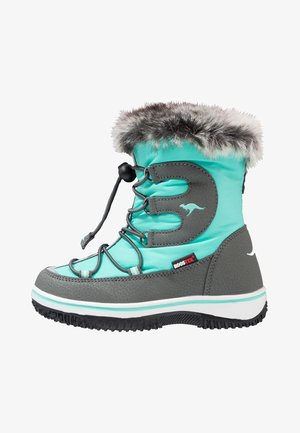 MAPLE - Lace-up ankle boots - turquoise blue/steel grey