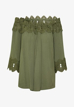 BEA LACE - Blouse - green leaf