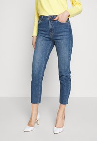 ONLY - ONLEMILY RAW ANKLE - Jeans Slim Fit - dark blue denim - 0