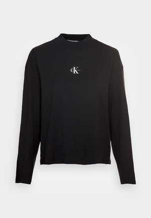 MICRO MONOGRAM LOOSE - T-shirt à manches longues - black
