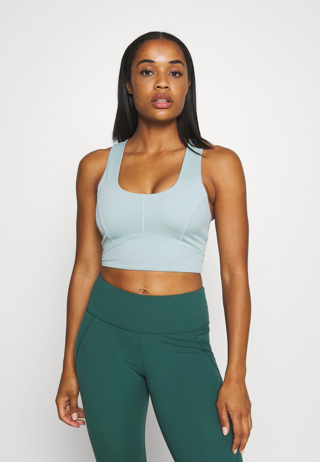 LUNA LIGHTS MIDI - Sport-bh met light support - light green