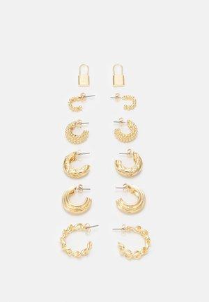 EARRINGS 6 PACK - Boucles d'oreilles - gold-coloured