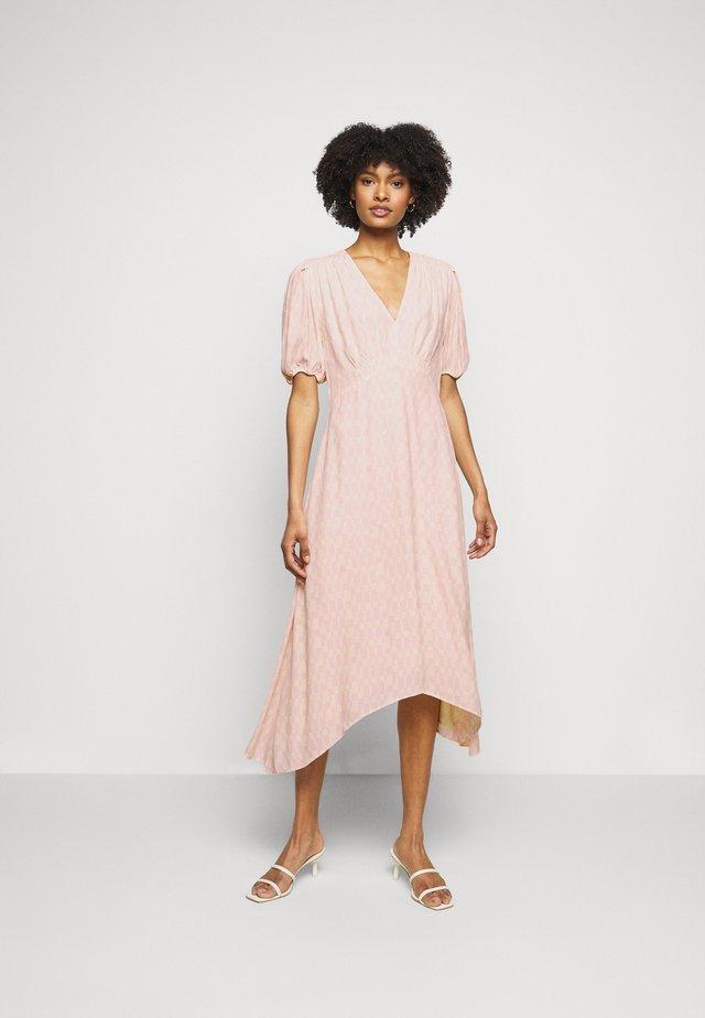 V NECK PUFF  - Sukienka letnia - pink multi