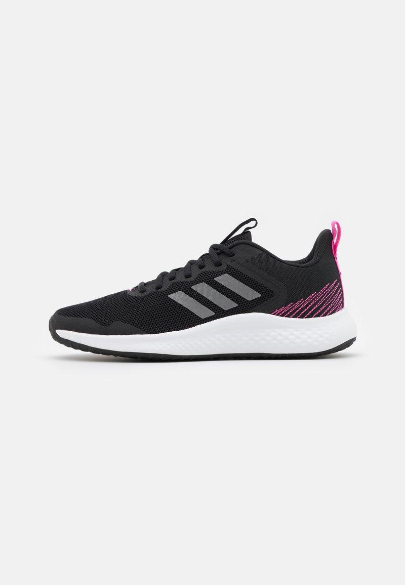 adidas Performance - FLUIDSTREET - Sportschoenen - core black/iron metallic/screaming pink