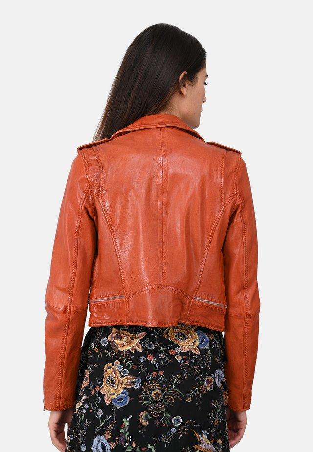 KYOTO  - Kožená bunda - orange