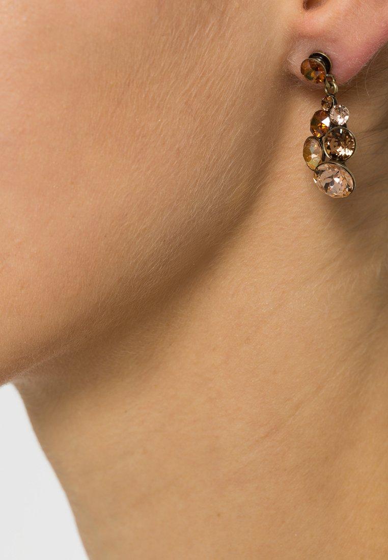 Konplott - PETIT GLAMOUR - Boucles d'oreilles - brown antique