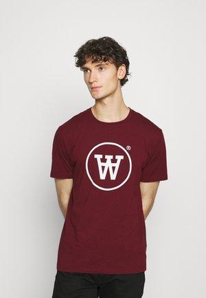 ACE  - Print T-shirt - dark red