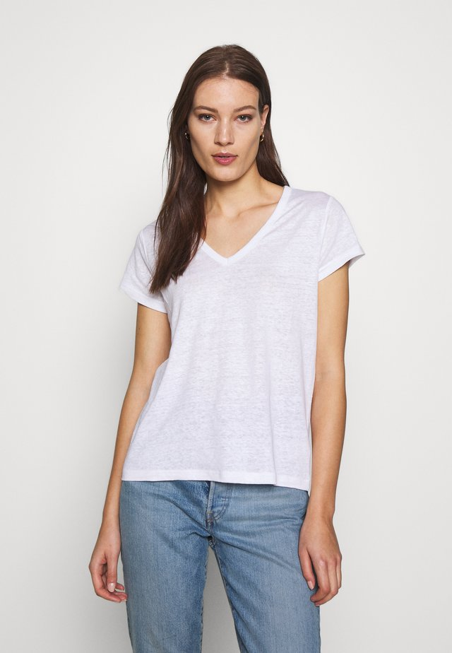 VEE TEE SOLIDS - Basic T-shirt - vwhite