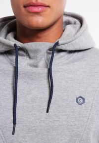 Jack & Jones - JCOPINN HOOD REGULAR FIT - Sweat à capuche - light grey melange - 3