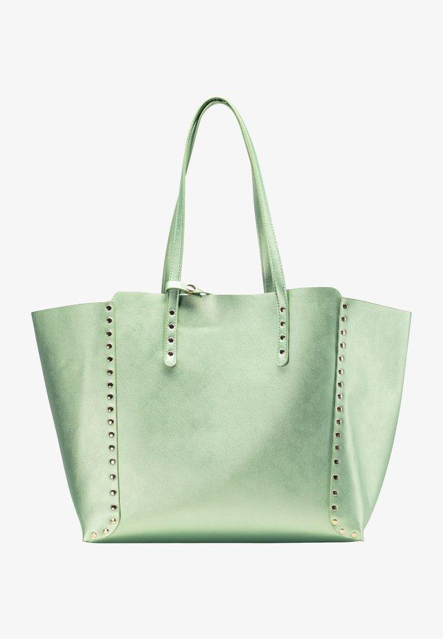 Shopping bag - grün metallic