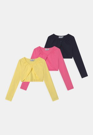 BOLERO 3 PACK - Strickjacke - navy/yellow/pink