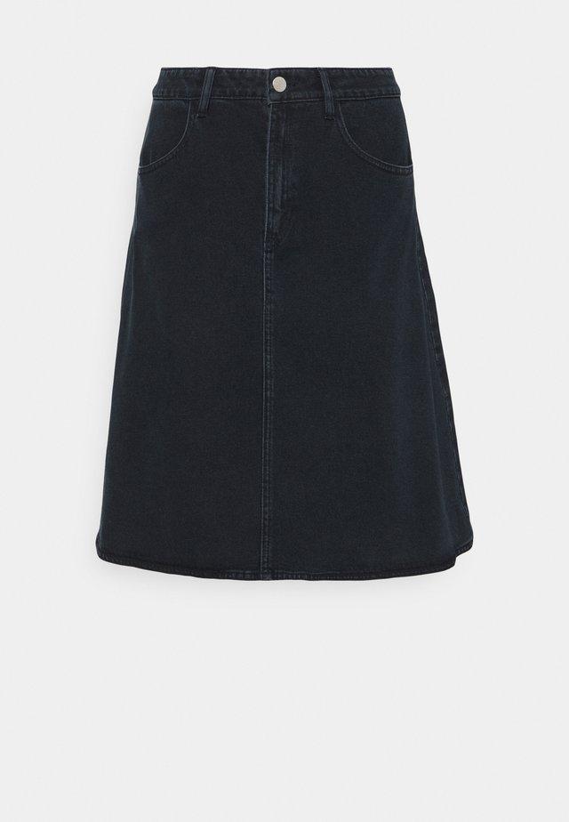 Denim skirt - washed blue/black