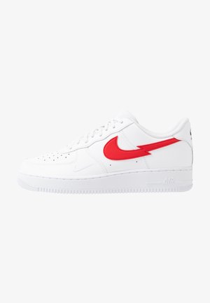 AIR FORCE 1 LV8 - Sneakersy niskie - white/university red/midnight navy/metallic silver