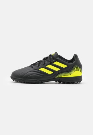 COPA SENSE.3 TF UNISEX - Astro turf trainers - core black/footwear white/solar yellow