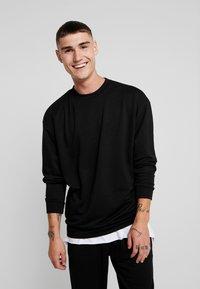 Urban Classics - TERRY CREW - Sweatshirt - black - 0