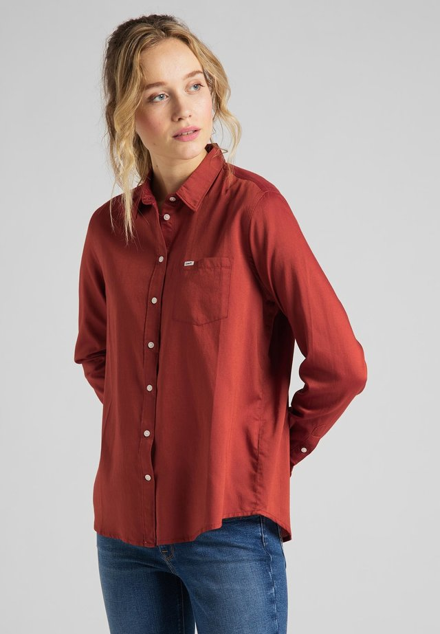 ONE POCKET - Camisa - red ochre