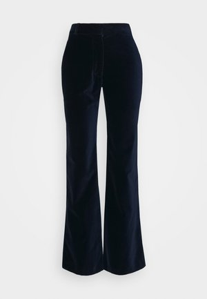 HIGH WAISTED FLARE TROUSER - Trousers - navy