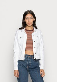 ONLY - ONLTIA JACKET - Giacca di jeans - white - 0
