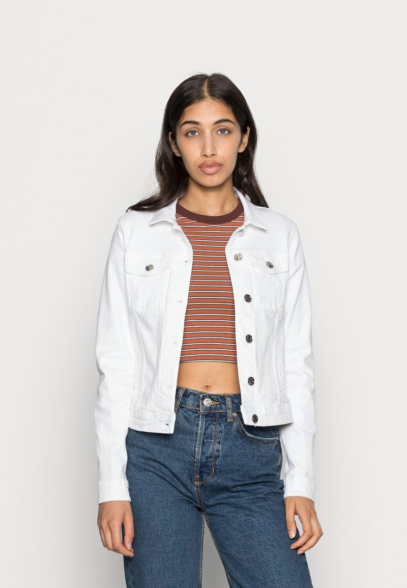 ONLY - ONLTIA JACKET - Giacca di jeans - white