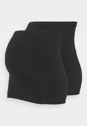 2er PACK seamless belly bands MATERNITY - Top - black