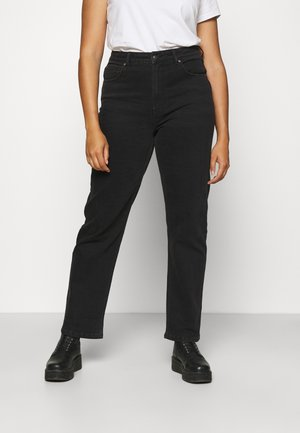 CARMEGANI WIDE - Straight leg jeans - black denim