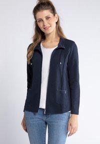 GINA LAURA - Zip-up hoodie - dunkel marine - 2