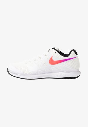 NIKECOURT AIR ZOOM VAPOR X - Kengät kaikille alustoille - summit white/white/black/electro green
